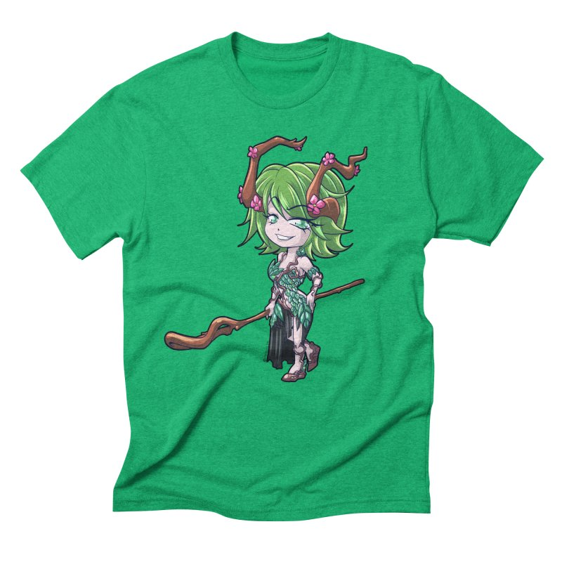 Chibi Series 1: Druid Men's Triblend T-Shirt by Shirts by Noc