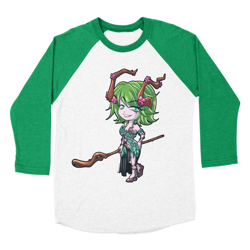 Chibi Series 1: Druid Women's Baseball Triblend Longsleeve T-Shirt by Shirts by Noc
