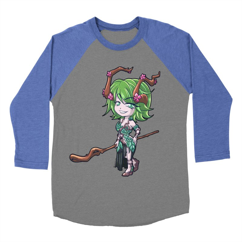 Chibi Series 1: Druid Women's Baseball Triblend Longsleeve T-Shirt by Shirts by Noc