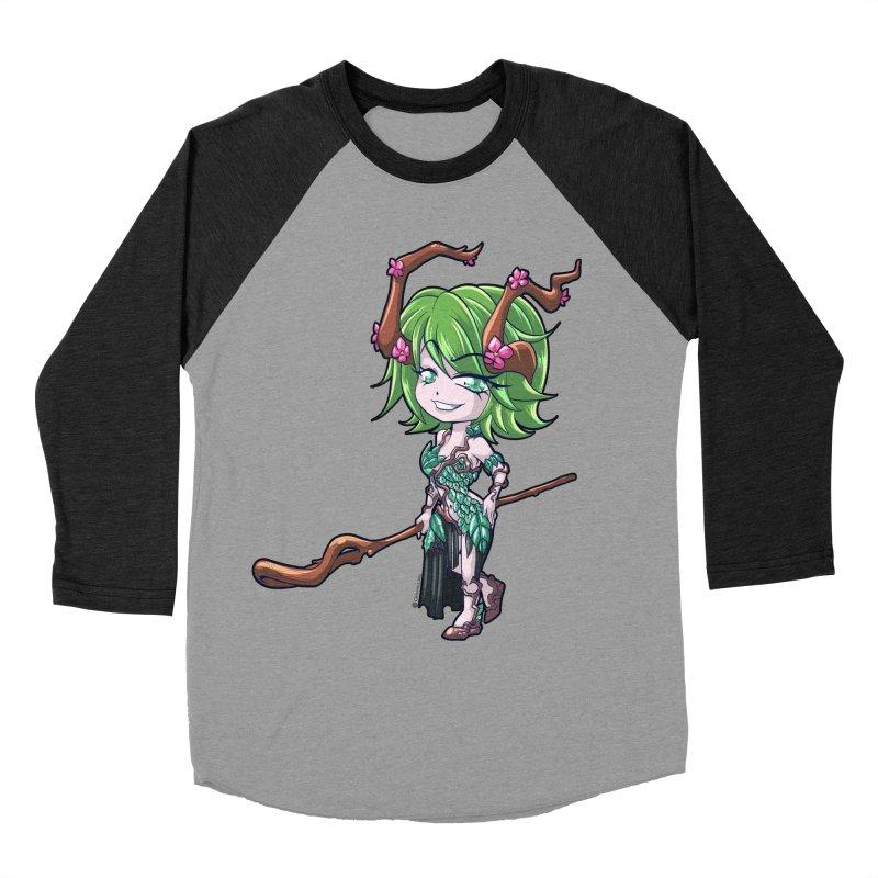 Chibi Series 1: Druid Men's Baseball Triblend Longsleeve T-Shirt by Shirts by Noc