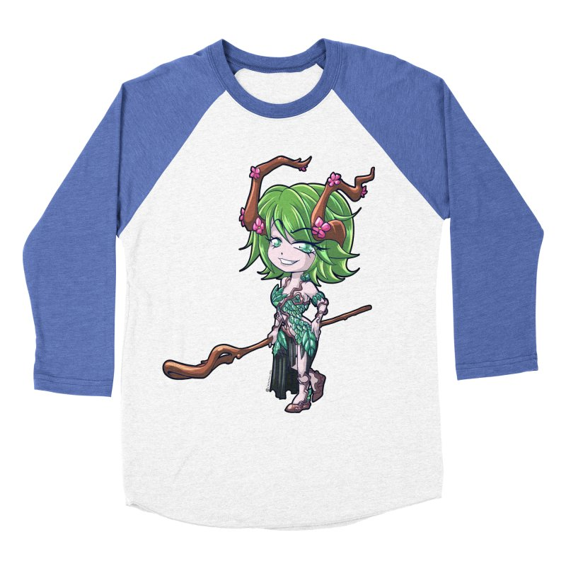 Chibi Series 1: Druid Men's Baseball Triblend Longsleeve T-Shirt by Shirts by Noc