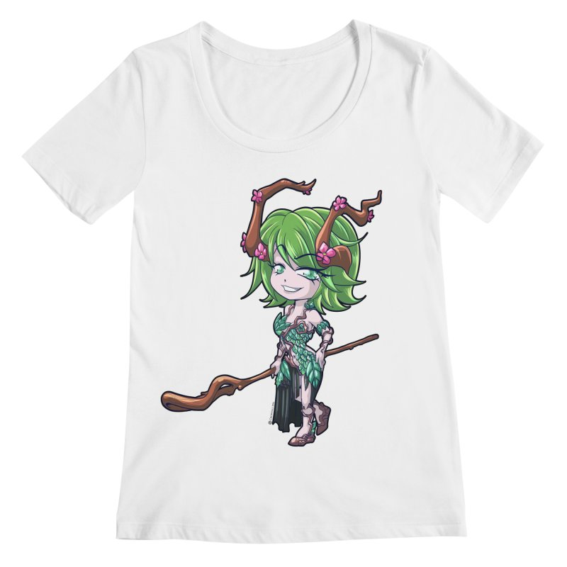 Chibi Series 1: Druid Women's Regular Scoop Neck by Shirts by Noc