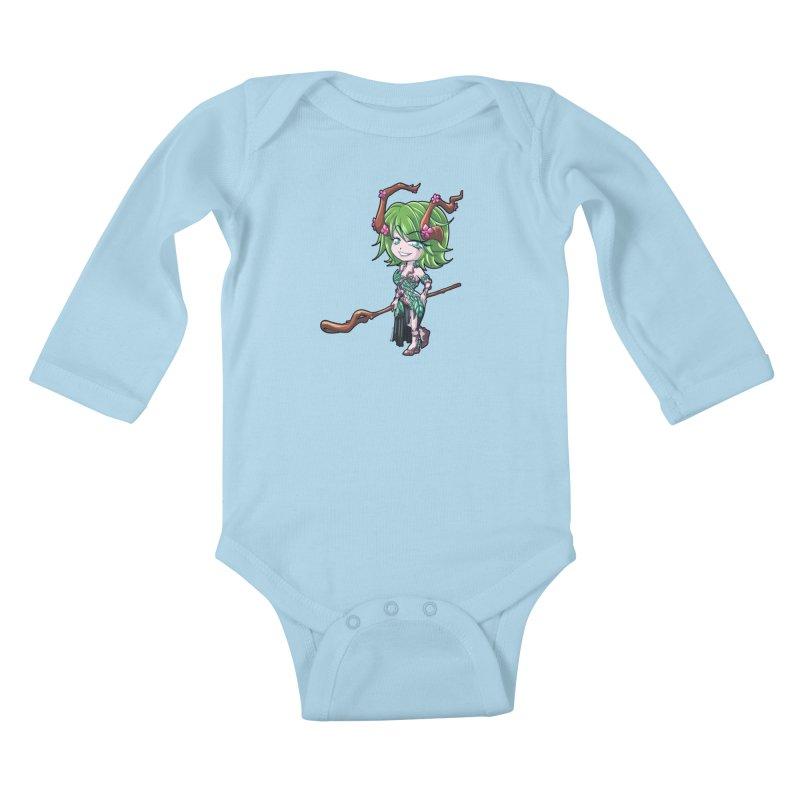 Chibi Series 1: Druid Kids Baby Longsleeve Bodysuit by Shirts by Noc