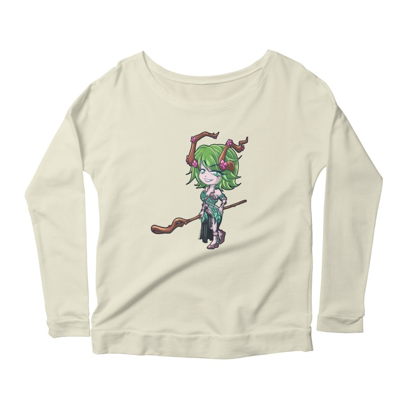 Chibi Series 1: Druid Women's Longsleeve Scoopneck  by Shirts by Noc