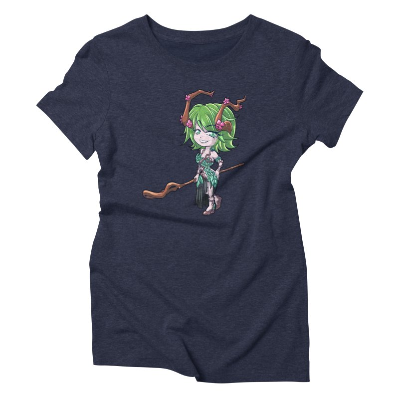 Chibi Series 1: Druid Women's Triblend T-Shirt by Shirts by Noc