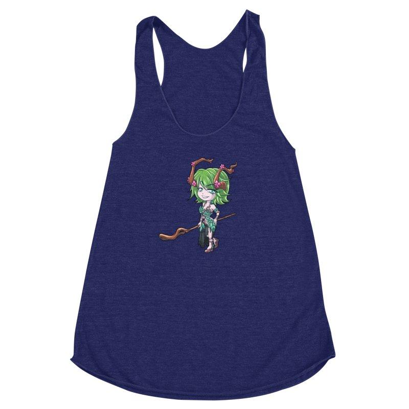 Chibi Series 1: Druid Women's Racerback Triblend Tank by Shirts by Noc