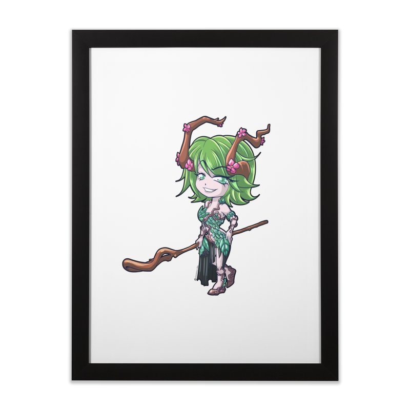 Chibi Series 1: Druid Home Framed Fine Art Print by Shirts by Noc