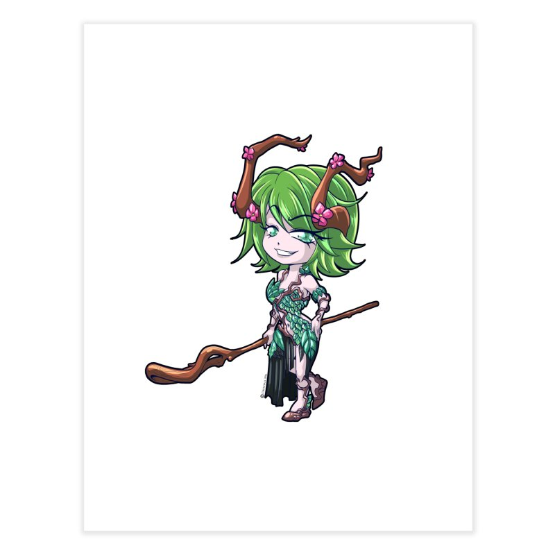 Chibi Series 1: Druid Home Fine Art Print by Shirts by Noc