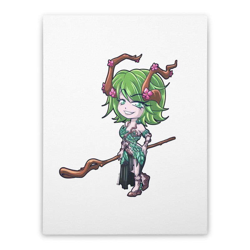 Chibi Series 1: Druid Home Stretched Canvas by Shirts by Noc