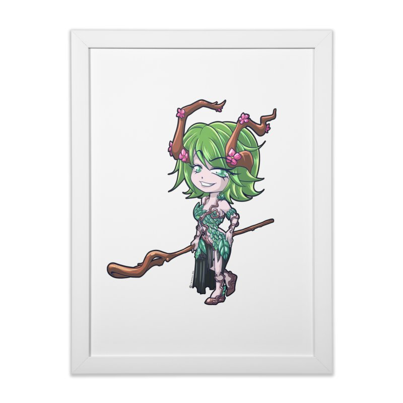 Chibi Series 1: Druid Home Framed Fine Art Print by Shirts by Noc