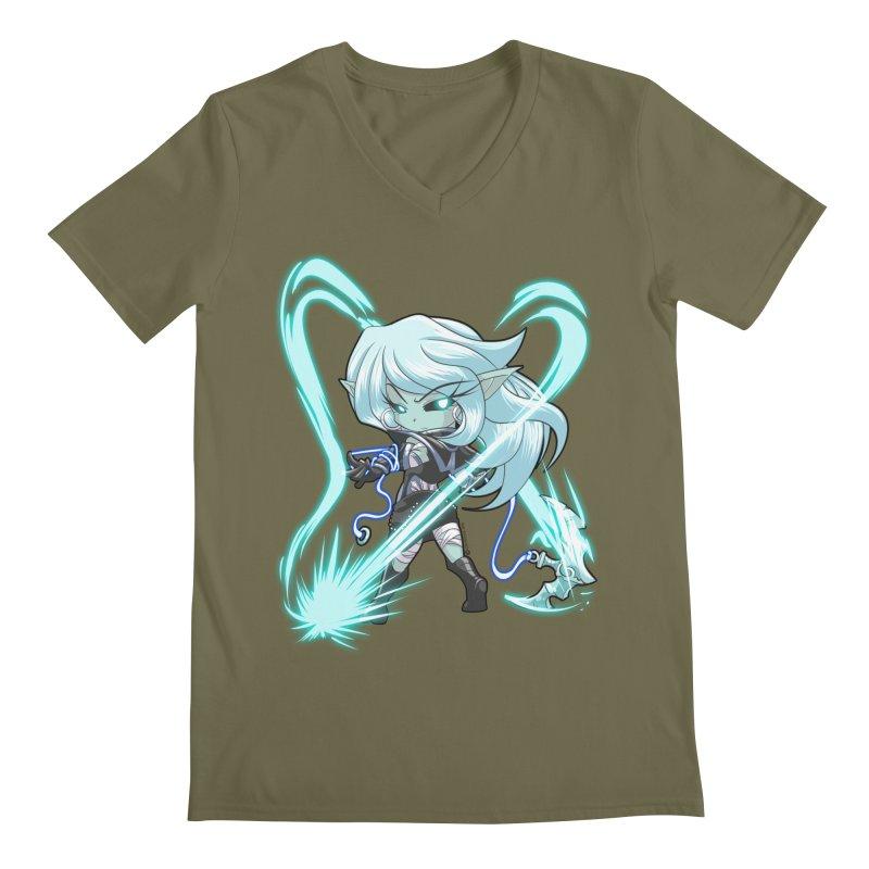 Chibi Series 1: Frostweaver Men's V-Neck by Shirts by Noc