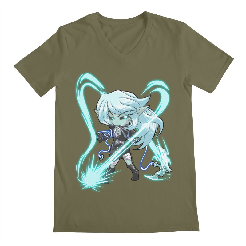 Chibi Series 1: Frostweaver Men's Regular V-Neck by Shirts by Noc