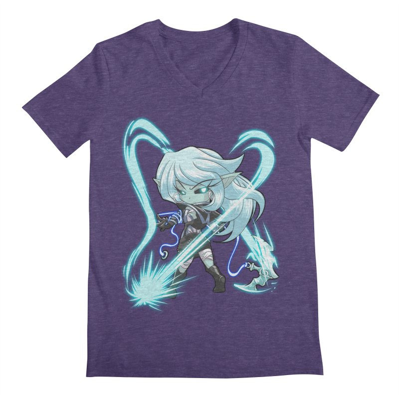 Chibi Series 1: Frostweaver Men's V-Neck by Shirts by Noc