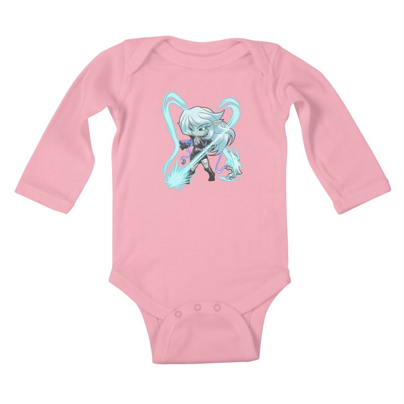 Chibi Series 1: Frostweaver Kids Baby Longsleeve Bodysuit by Shirts by Noc