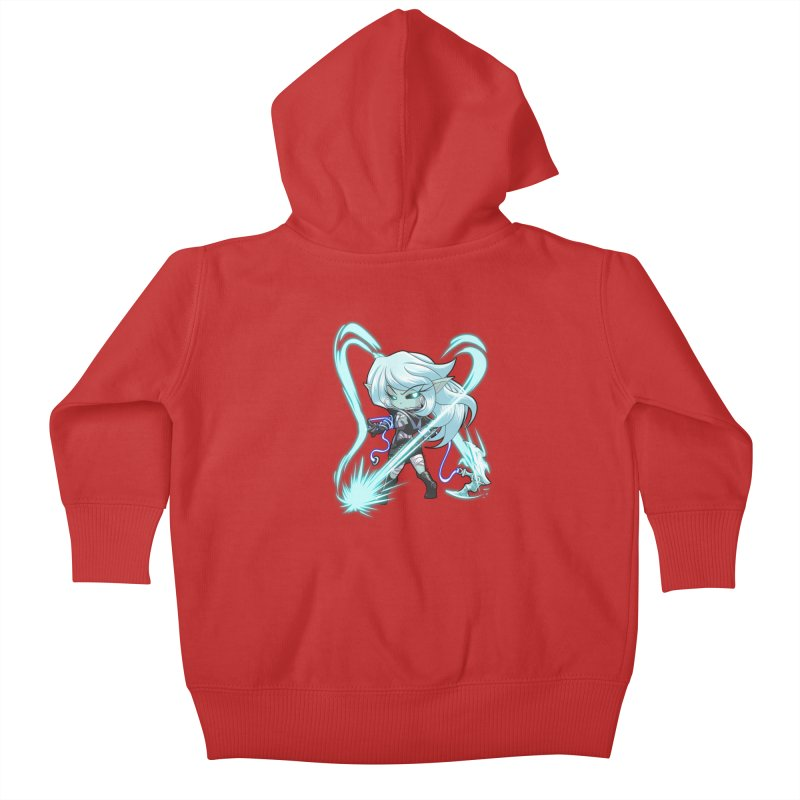 Chibi Series 1: Frostweaver Kids Baby Zip-Up Hoody by Shirts by Noc