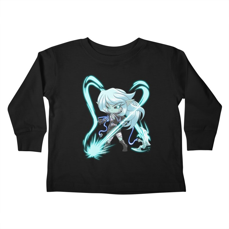 Chibi Series 1: Frostweaver Kids Toddler Longsleeve T-Shirt by Shirts by Noc