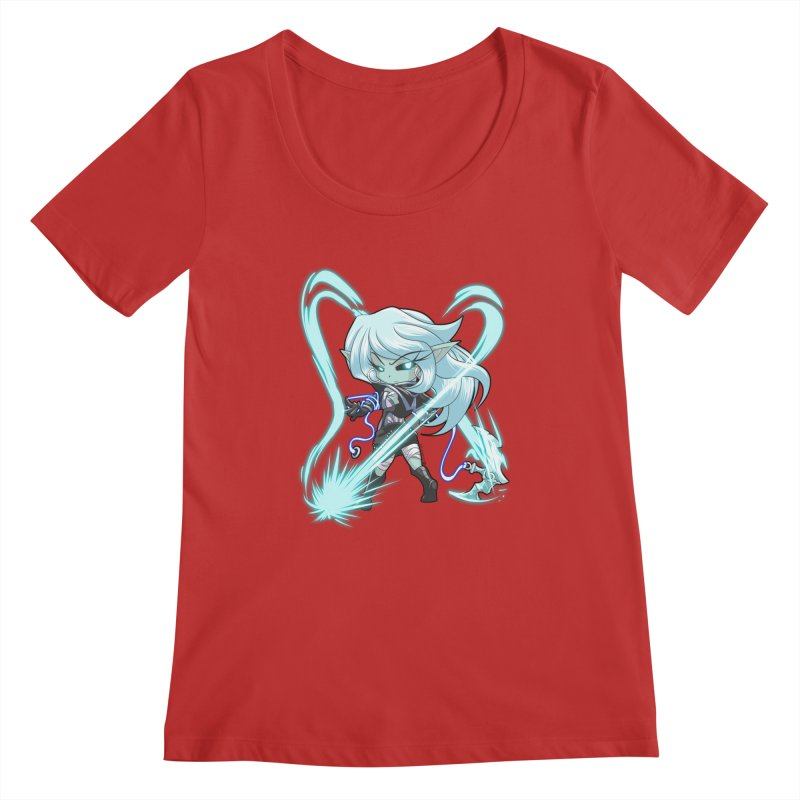 Chibi Series 1: Frostweaver Women's Regular Scoop Neck by Shirts by Noc