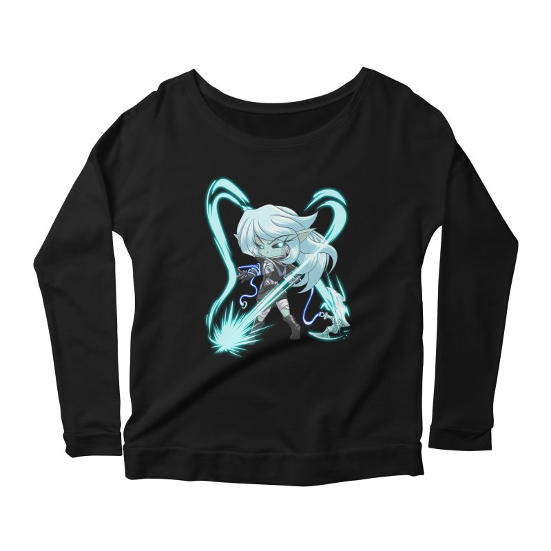 Chibi Series 1: Frostweaver Women's Scoop Neck Longsleeve T-Shirt by Shirts by Noc