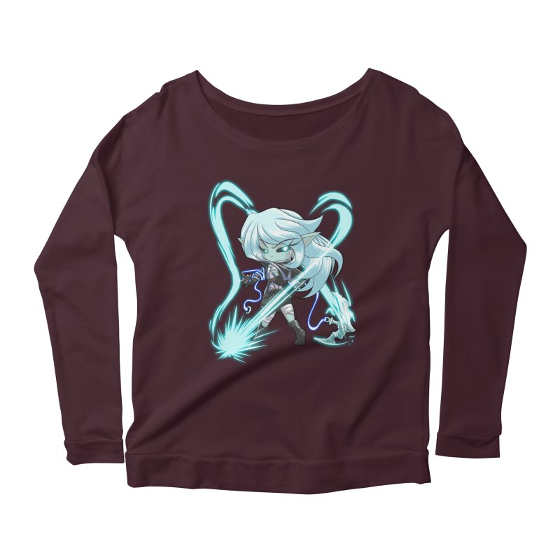 Chibi Series 1: Frostweaver Women's Scoop Neck Longsleeve T-Shirt by Shirts by Noc