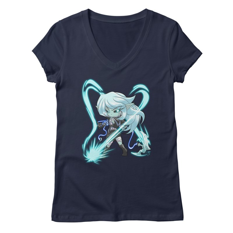 Chibi Series 1: Frostweaver Women's Regular V-Neck by Shirts by Noc
