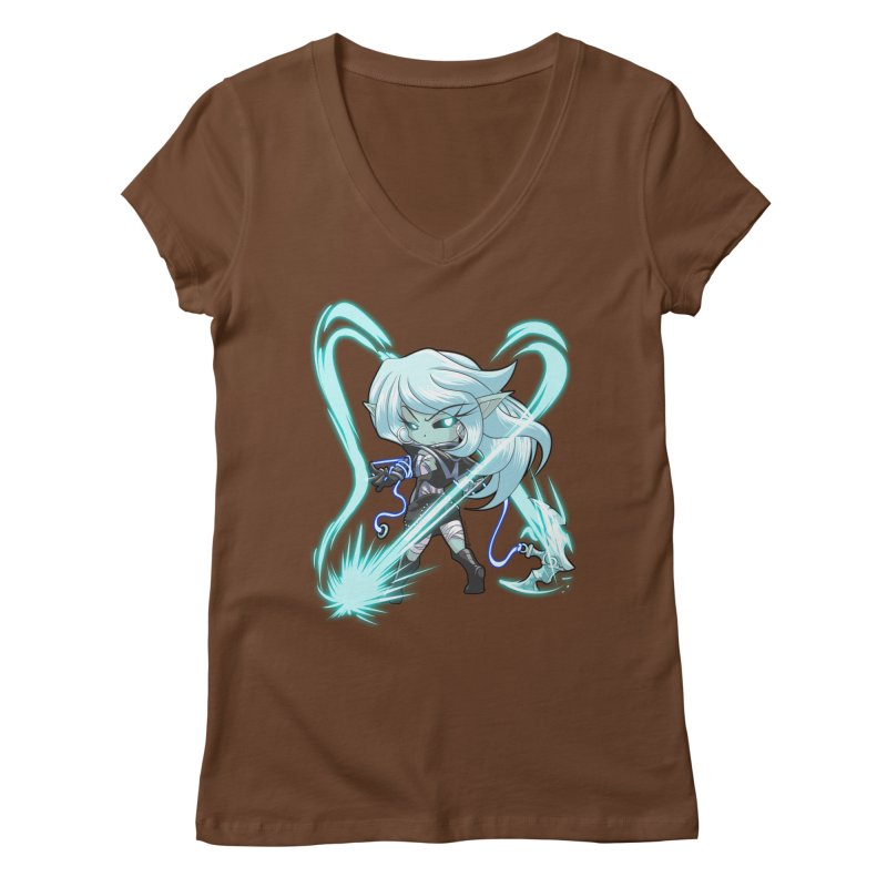 Chibi Series 1: Frostweaver Women's V-Neck by Shirts by Noc
