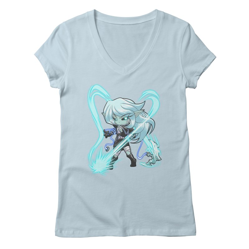 Chibi Series 1: Frostweaver Women's V-Neck by Shirts by Noc