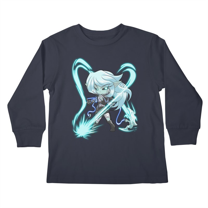 Chibi Series 1: Frostweaver Kids Longsleeve T-Shirt by Shirts by Noc