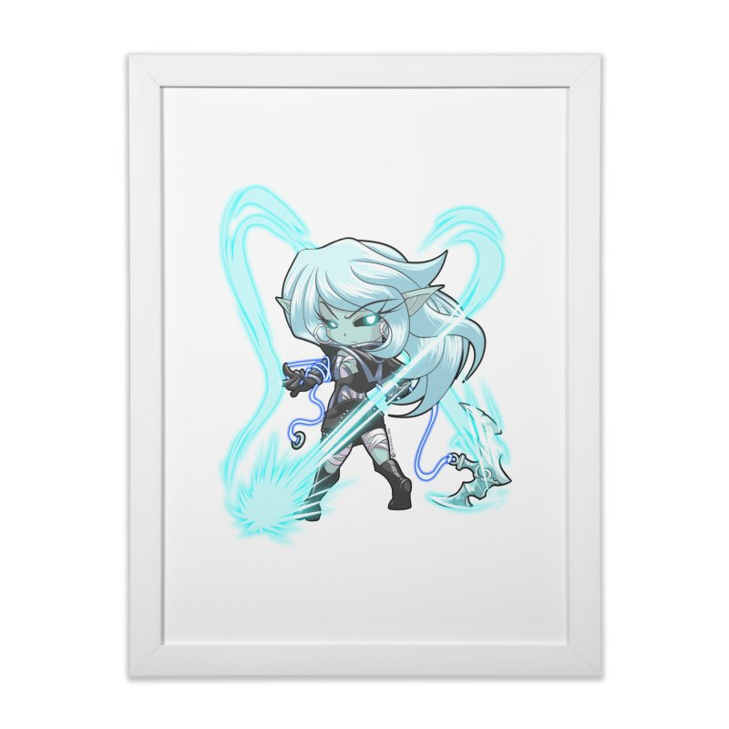 Chibi Series 1: Frostweaver Home Framed Fine Art Print by Shirts by Noc