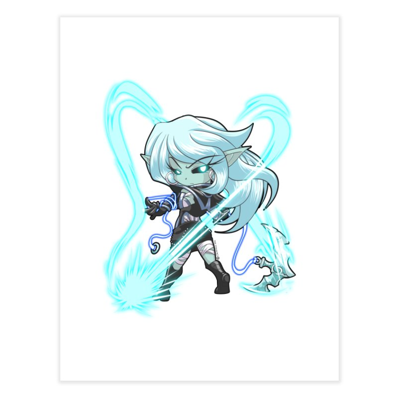 Chibi Series 1: Frostweaver Home Fine Art Print by Shirts by Noc