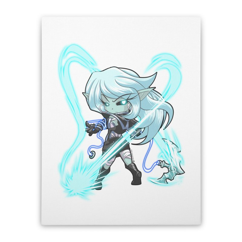 Chibi Series 1: Frostweaver Home Stretched Canvas by Shirts by Noc