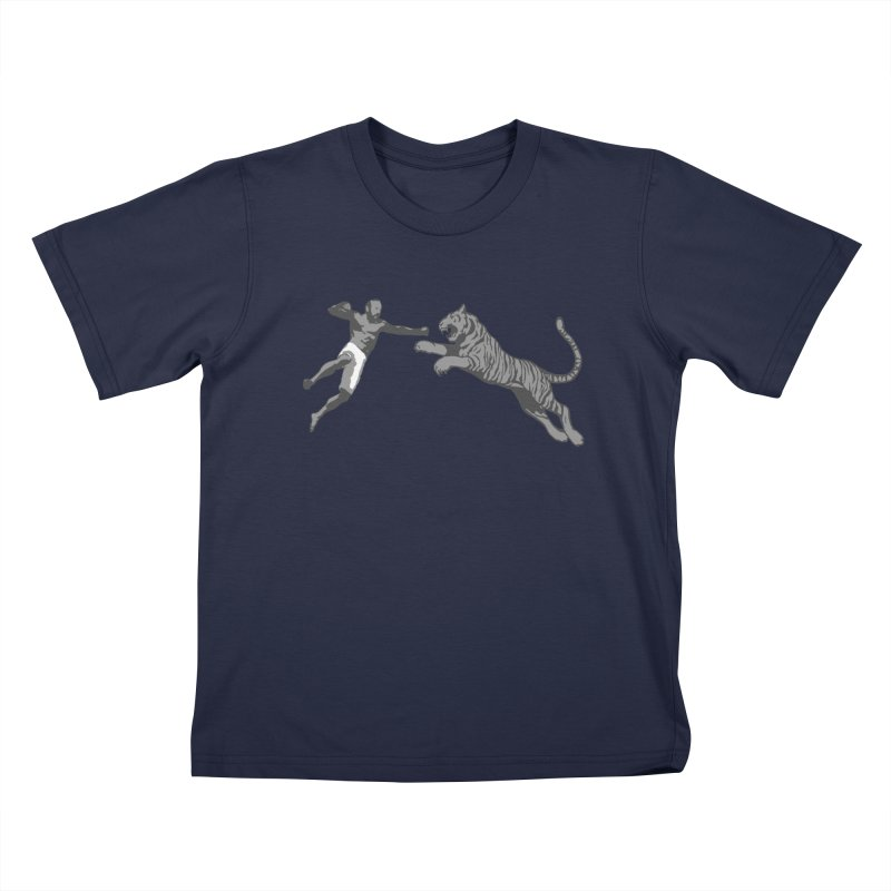 Tiger Punch! Kids T-Shirt by Shirts by Noc