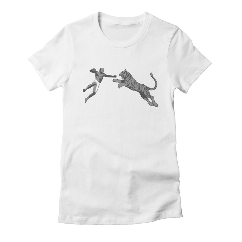 Tiger Punch! Women's Fitted T-Shirt by Shirts by Noc