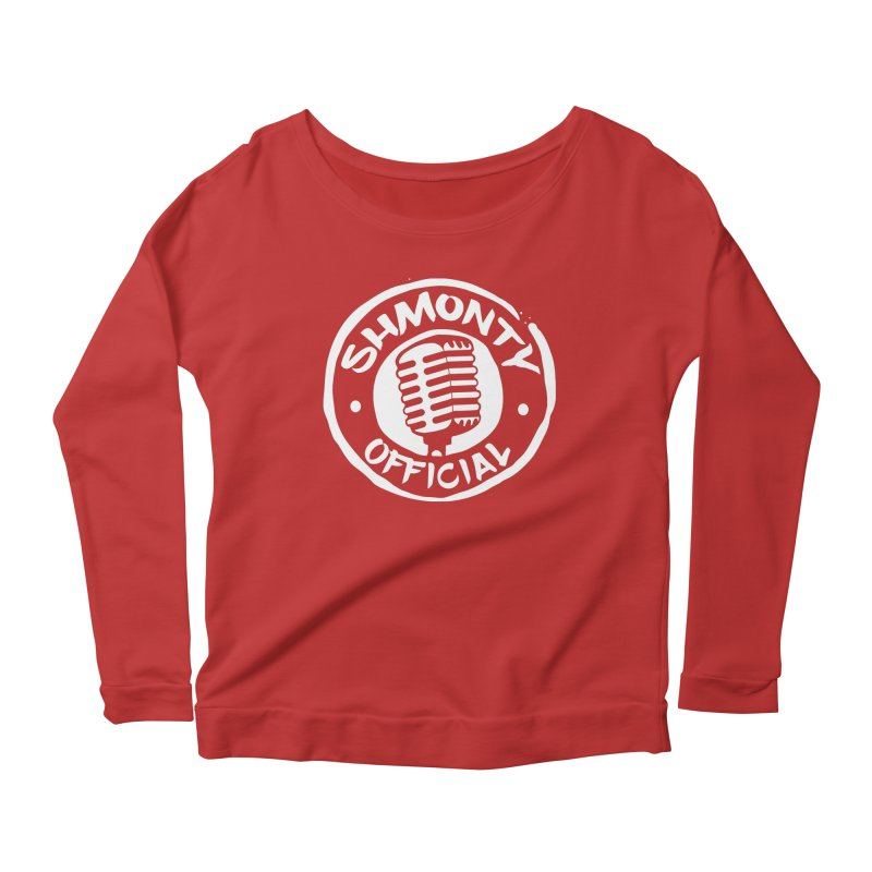 Shmonty Official Light Logo Women's Scoop Neck Longsleeve T-Shirt by Shmonty Official Gear
