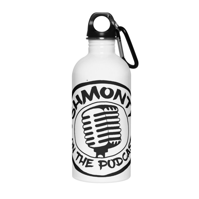 Shmonty on The Podcast Dark Logo Accessories Water Bottle by Shmonty Official Gear