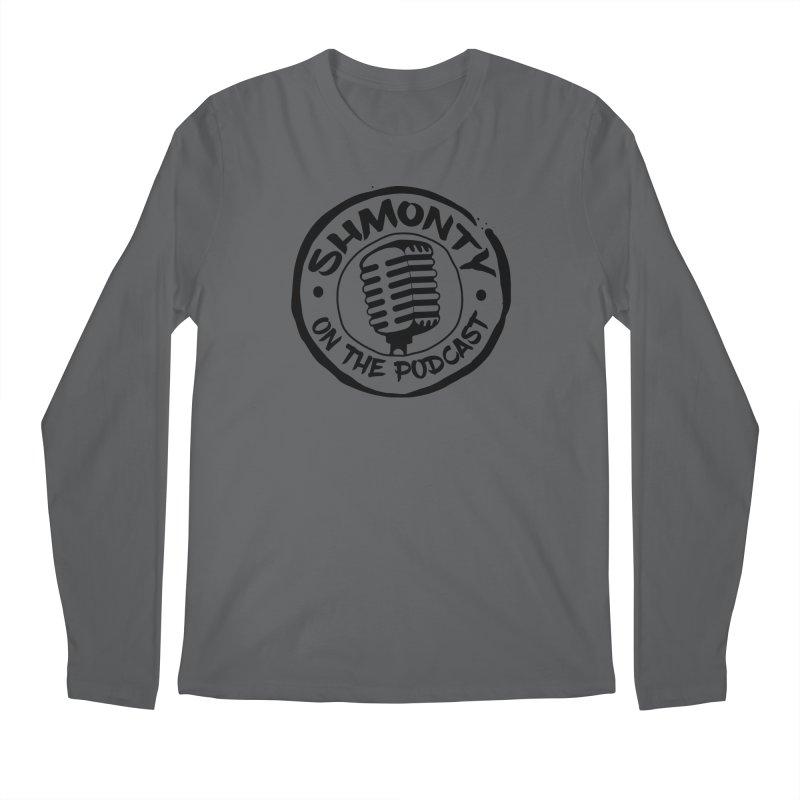 Shmonty on The Podcast Dark Logo Men's Longsleeve T-Shirt by Shmonty Official Gear