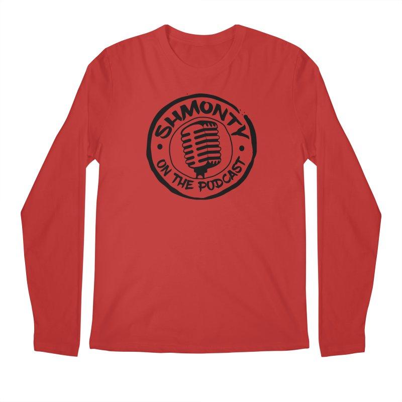 Shmonty on The Podcast Dark Logo Men's Regular Longsleeve T-Shirt by Shmonty Official Gear