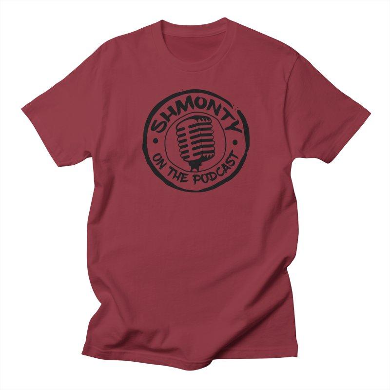 Shmonty on The Podcast Dark Logo Men's T-Shirt by Shmonty Official Gear