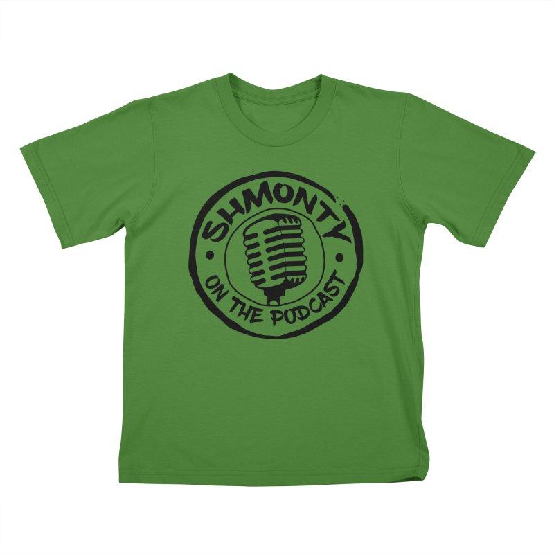 Shmonty on The Podcast Dark Logo Kids T-Shirt by Shmonty Official Gear