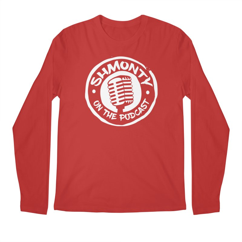 Shmonty on the Podcast Light Logo Men's Regular Longsleeve T-Shirt by Shmonty Official Gear