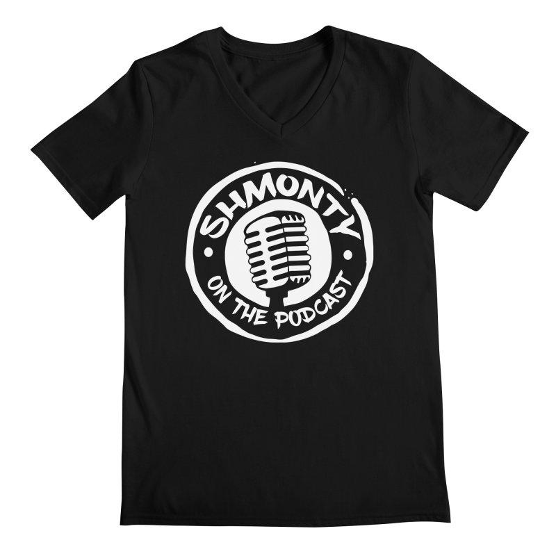 Shmonty on the Podcast Light Logo Men's V-Neck by Shmonty Official Gear