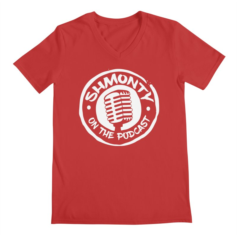 Shmonty on the Podcast Light Logo Men's Regular V-Neck by Shmonty Official Gear