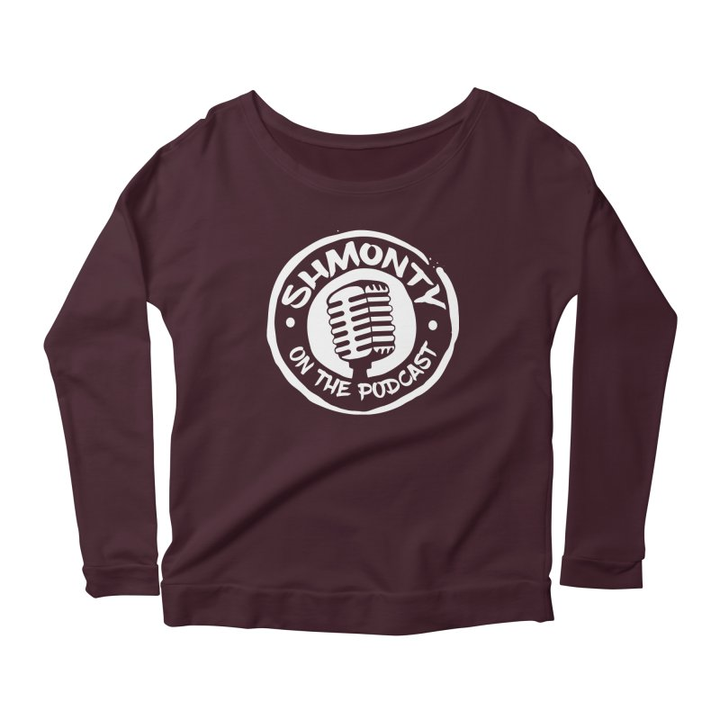 Shmonty on the Podcast Light Logo Women's Longsleeve Scoopneck  by Shmonty Official Gear