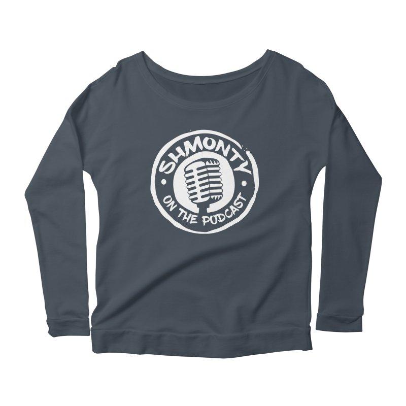 Shmonty on the Podcast Light Logo Women's Scoop Neck Longsleeve T-Shirt by Shmonty Official Gear