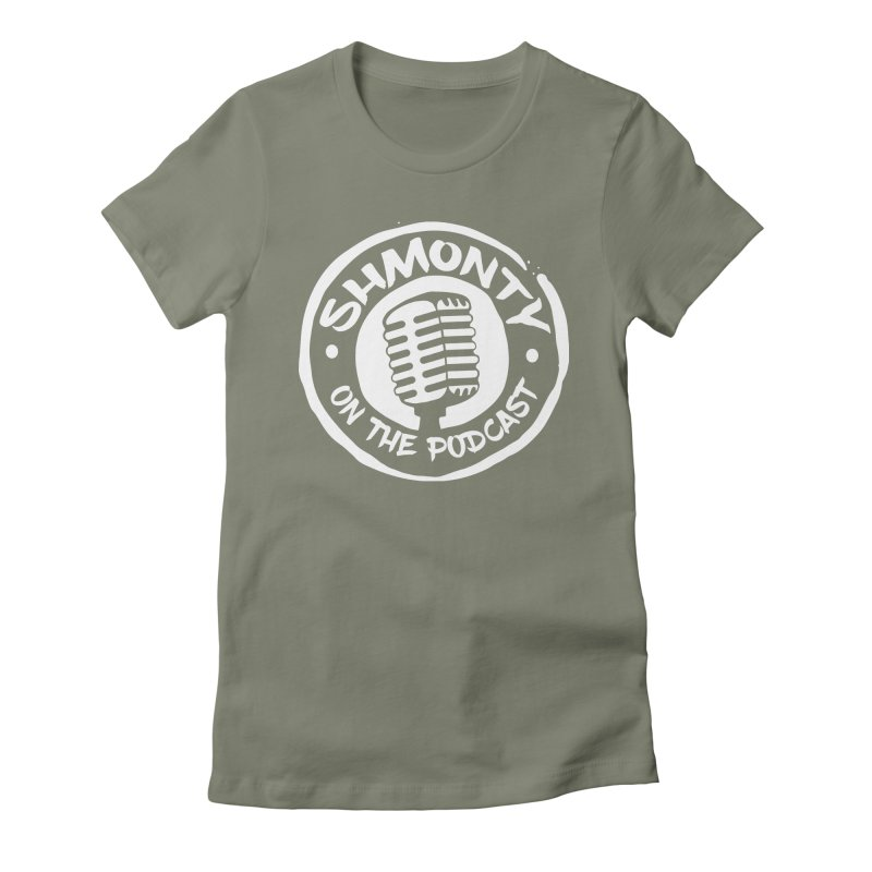 Shmonty on the Podcast Light Logo Women's Fitted T-Shirt by Shmonty Official Gear