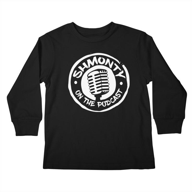 Shmonty on the Podcast Light Logo Kids Longsleeve T-Shirt by Shmonty Official Gear