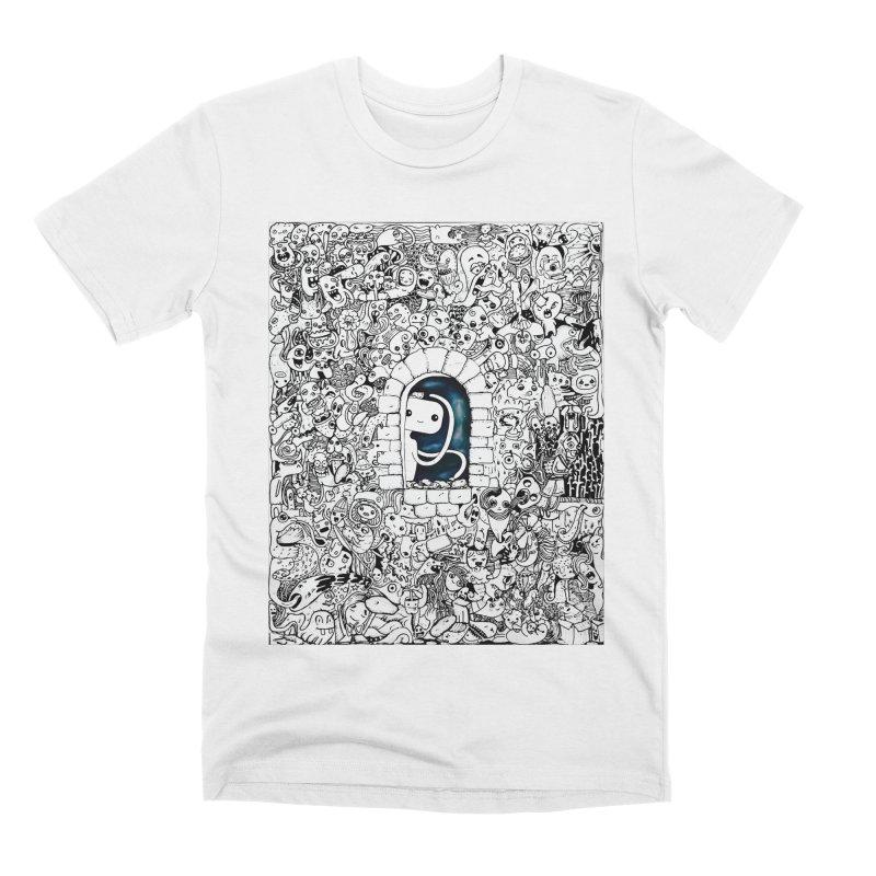 Doodle Cute Creatures Men's T-Shirt by Shoosh