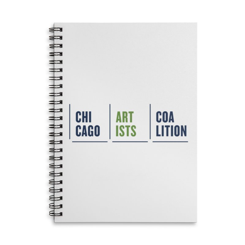 CAC logo horizontal Accessories Lined Spiral Notebook by Shop CAC
