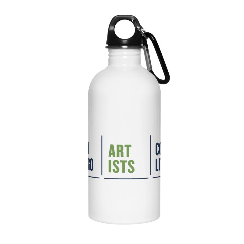 CAC logo horizontal Accessories Water Bottle by Shop CAC