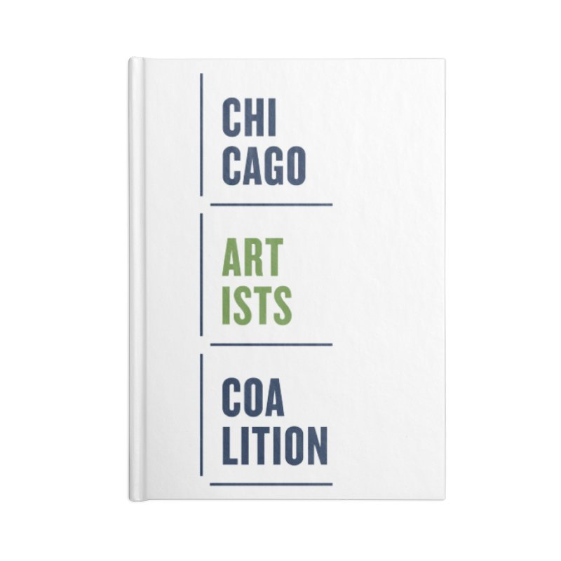 CAC logo Vertical Accessories Notebook by Shop CAC