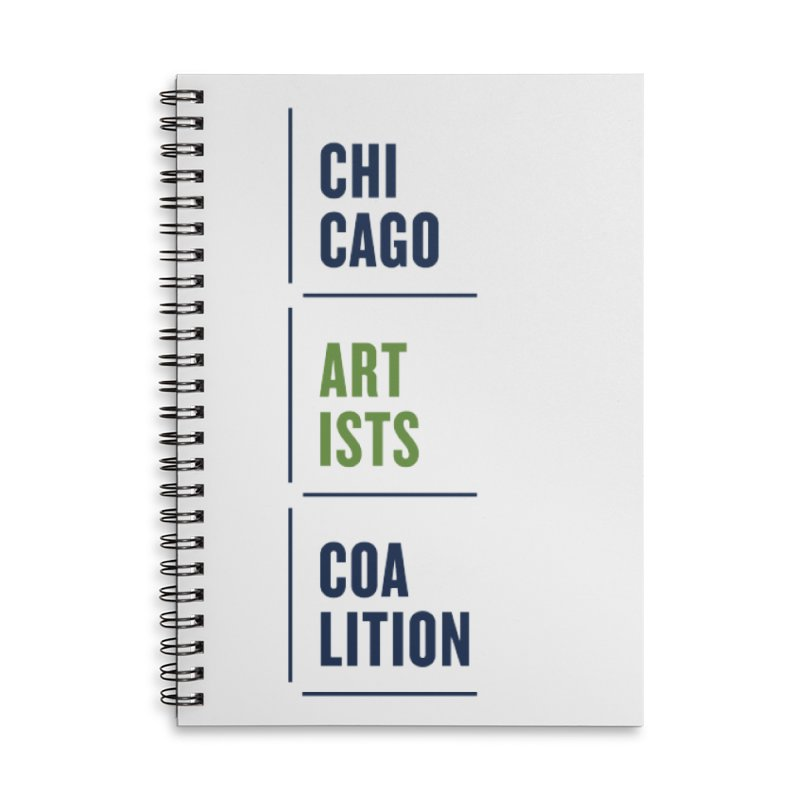 CAC logo Vertical Accessories Lined Spiral Notebook by Shop CAC